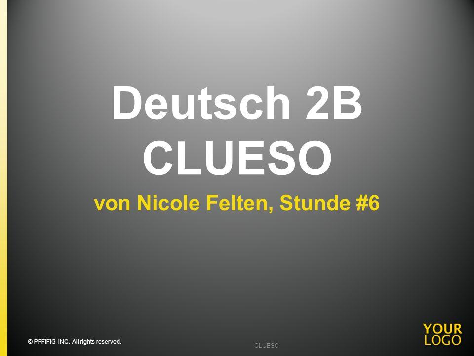 von Nicole Felten, Stunde #6