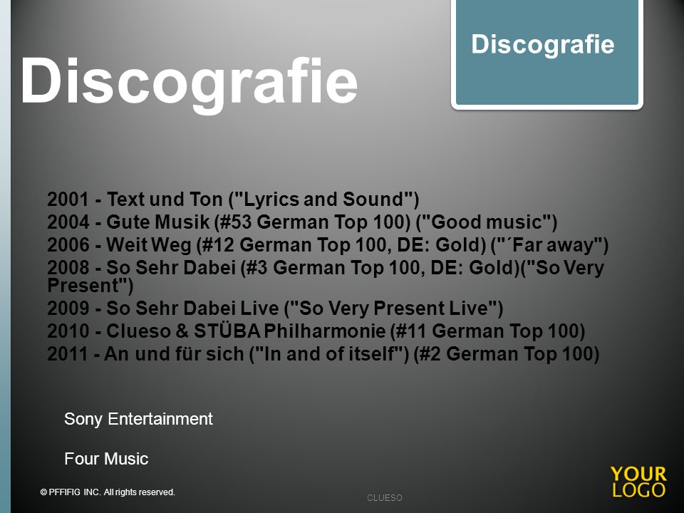 Discografie Discografie 2001 - Text und Ton ( Lyrics and Sound )