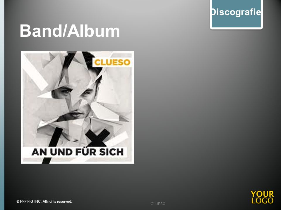 Band/Album Discografie Fotos oder Audio oder Video LINKS Slide Note: