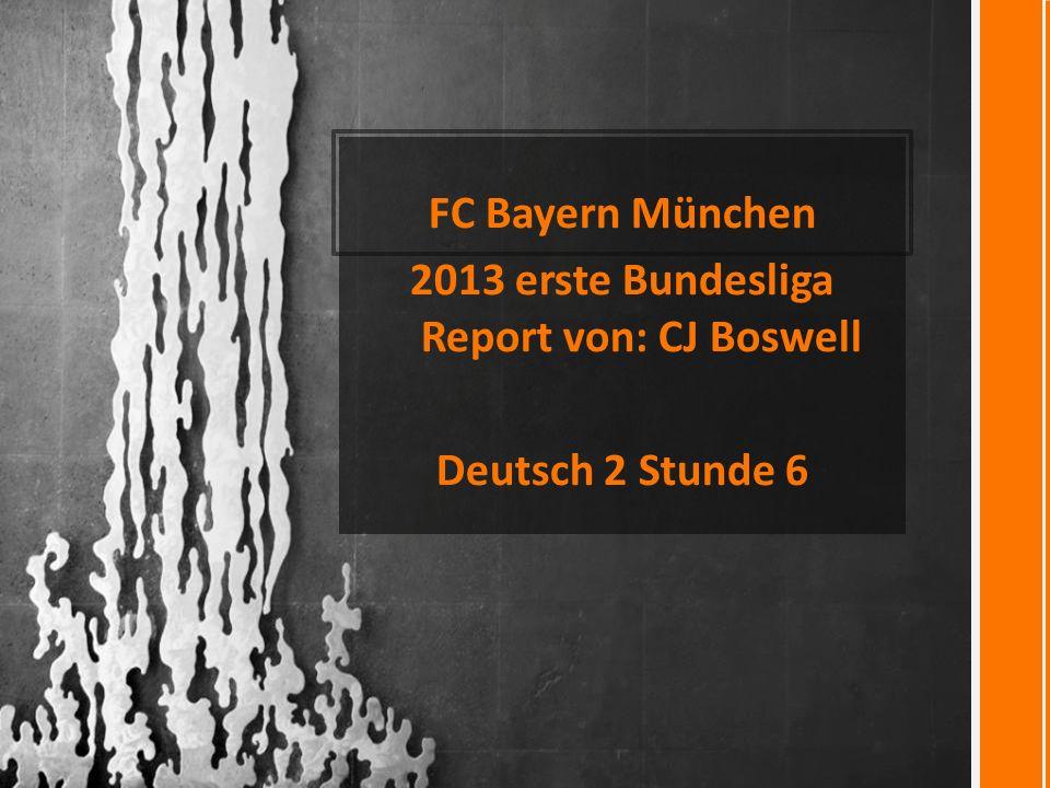 2013 erste Bundesliga Report von: CJ Boswell