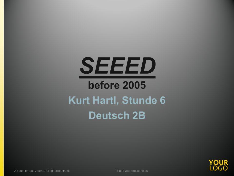 Kurt Hartl, Stunde 6 Deutsch 2B