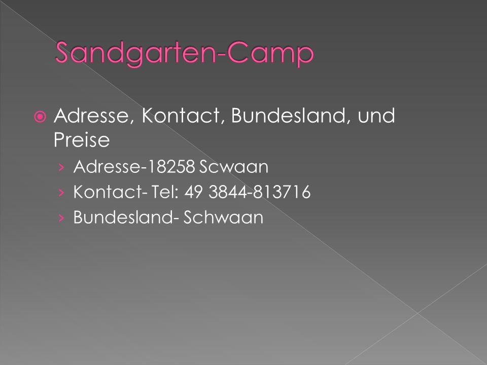 Sandgarten-Camp Adresse, Kontact, Bundesland, und Preise