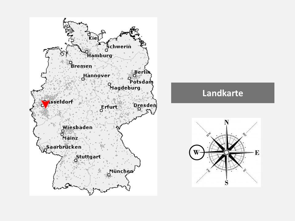 Landkarte Diese Stadt liegt m (Norden, Süden, Osten oder Westen) Deutschlands. (Landkarte)
