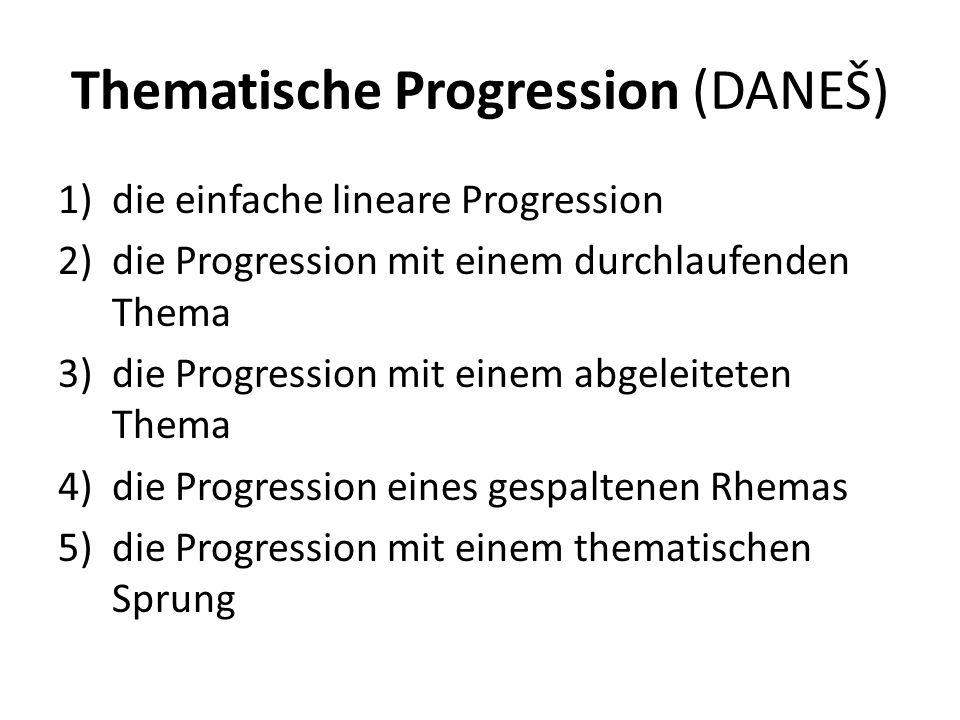 Thematische Progression (DANEŠ)