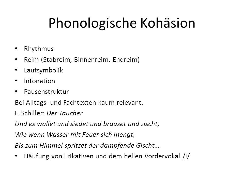 Phonologische Kohäsion