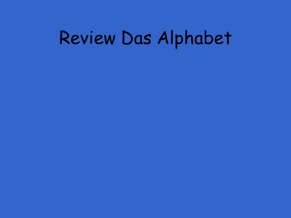 Review Das Alphabet