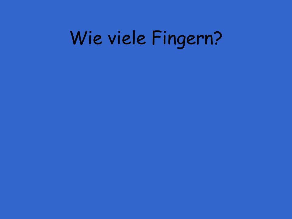 Wie viele Fingern
