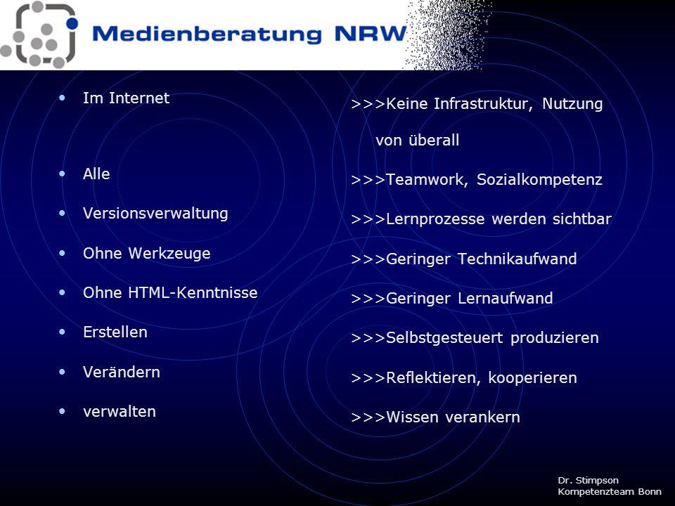 >>>Keine Infrastruktur, Nutzung von überall