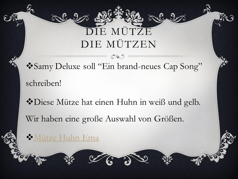 Die mütze die mützen Samy Deluxe soll Ein brand-neues Cap Song schreiben!