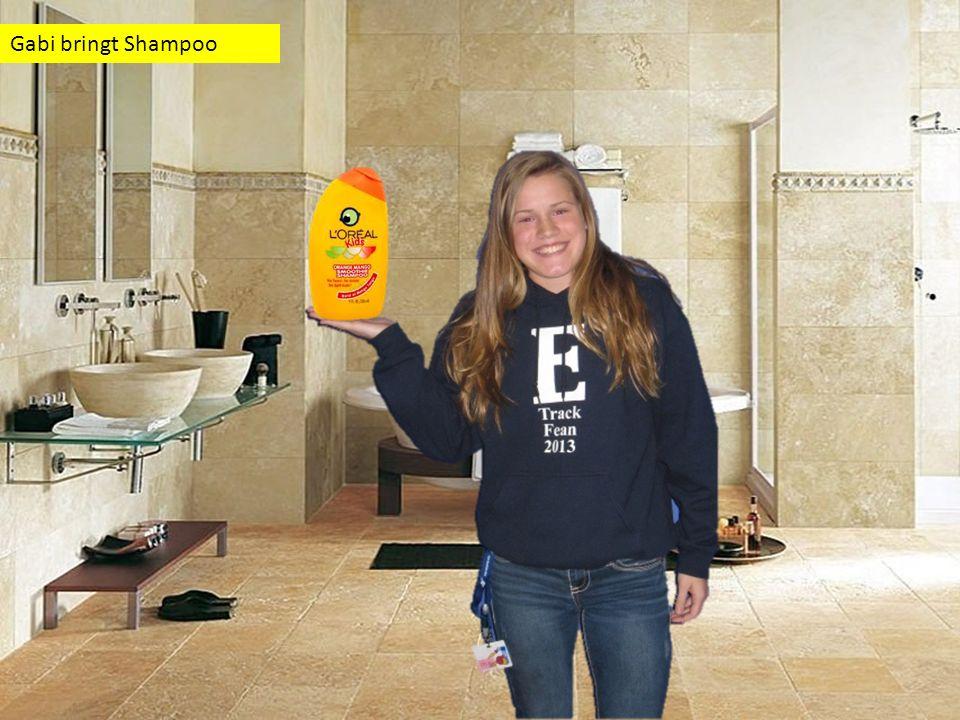 Gabi bringt Shampoo