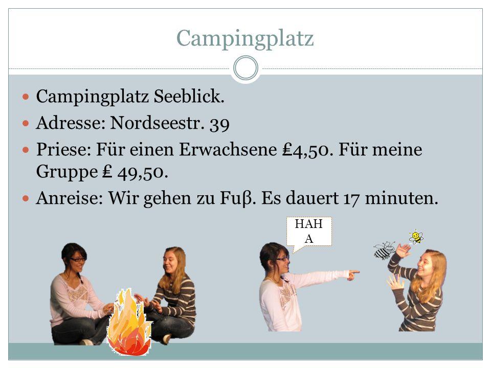 Campingplatz Campingplatz Seeblick. Adresse: Nordseestr. 39