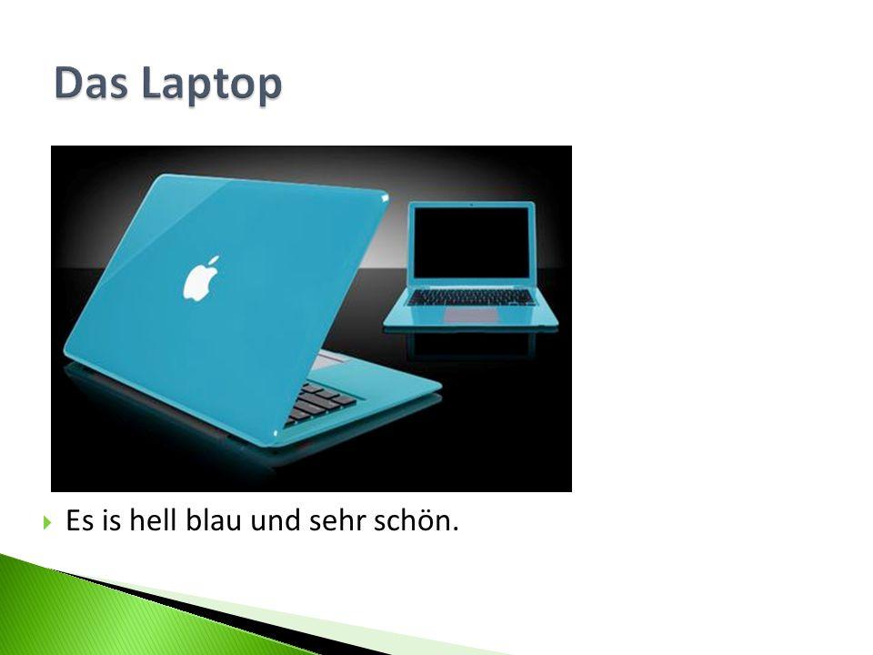 Das Laptop Es is hell blau und sehr schön.