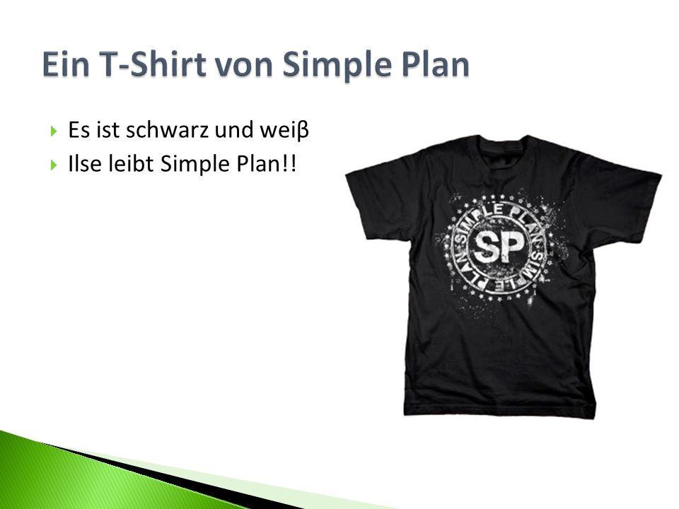 Ein T-Shirt von Simple Plan
