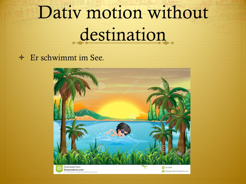 Dativ motion without destination