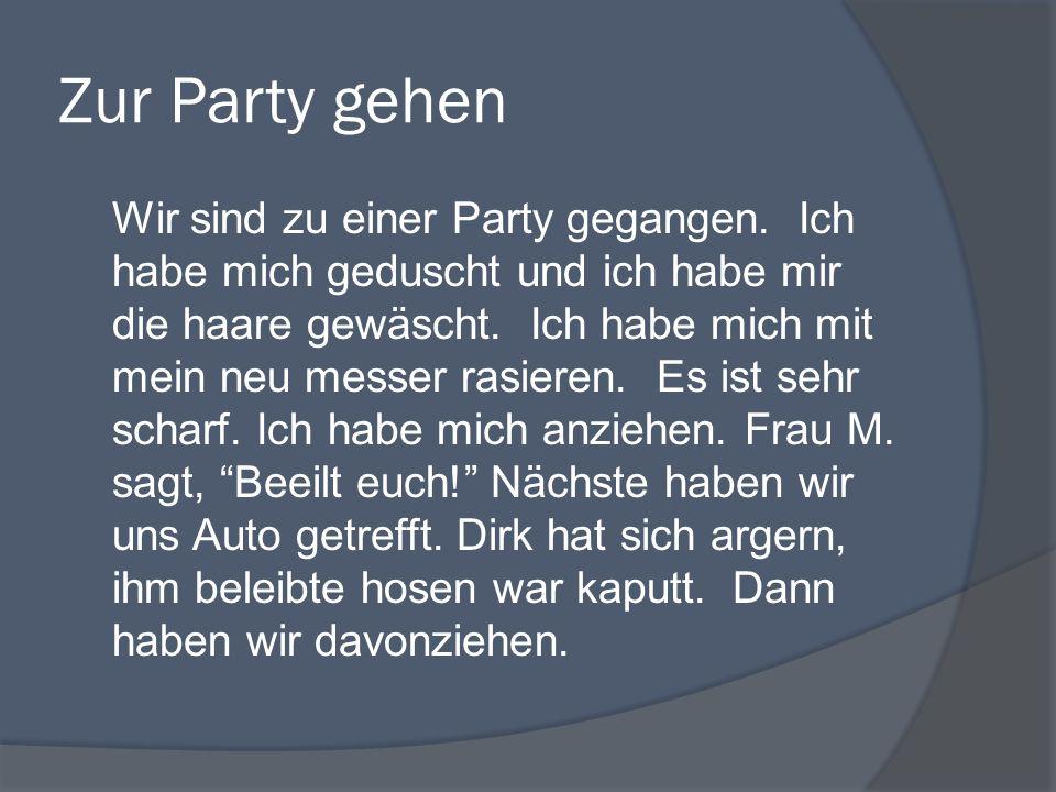 Zur Party gehen
