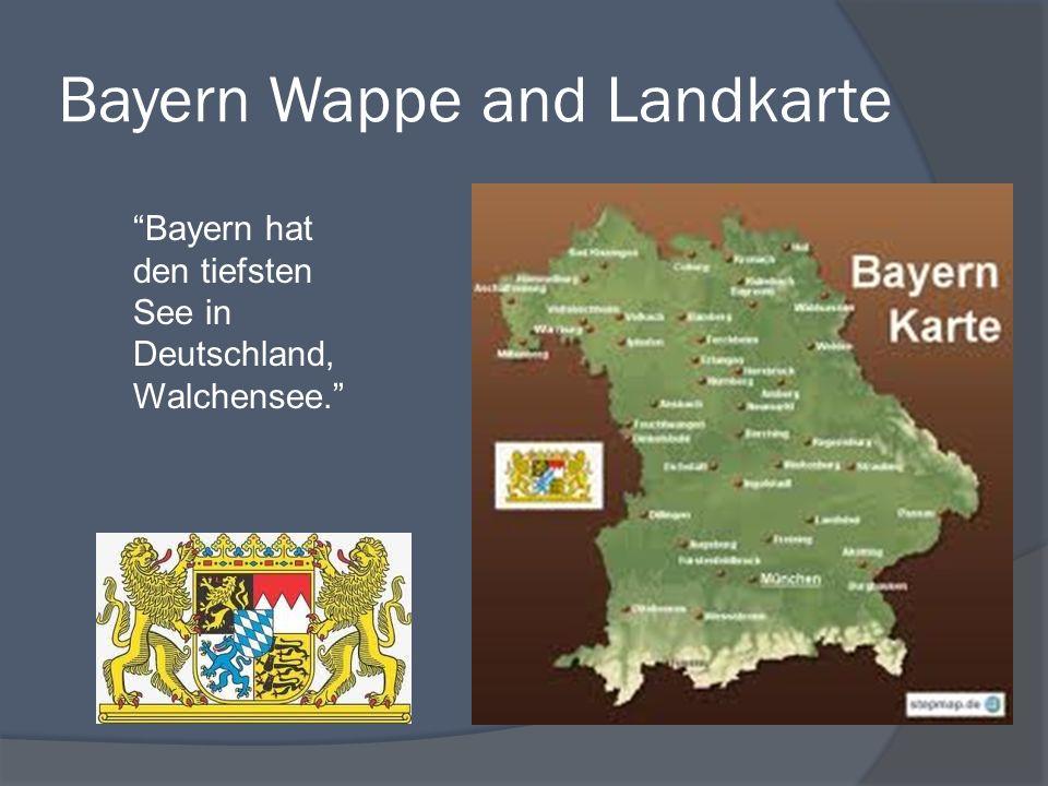 Bayern Wappe and Landkarte