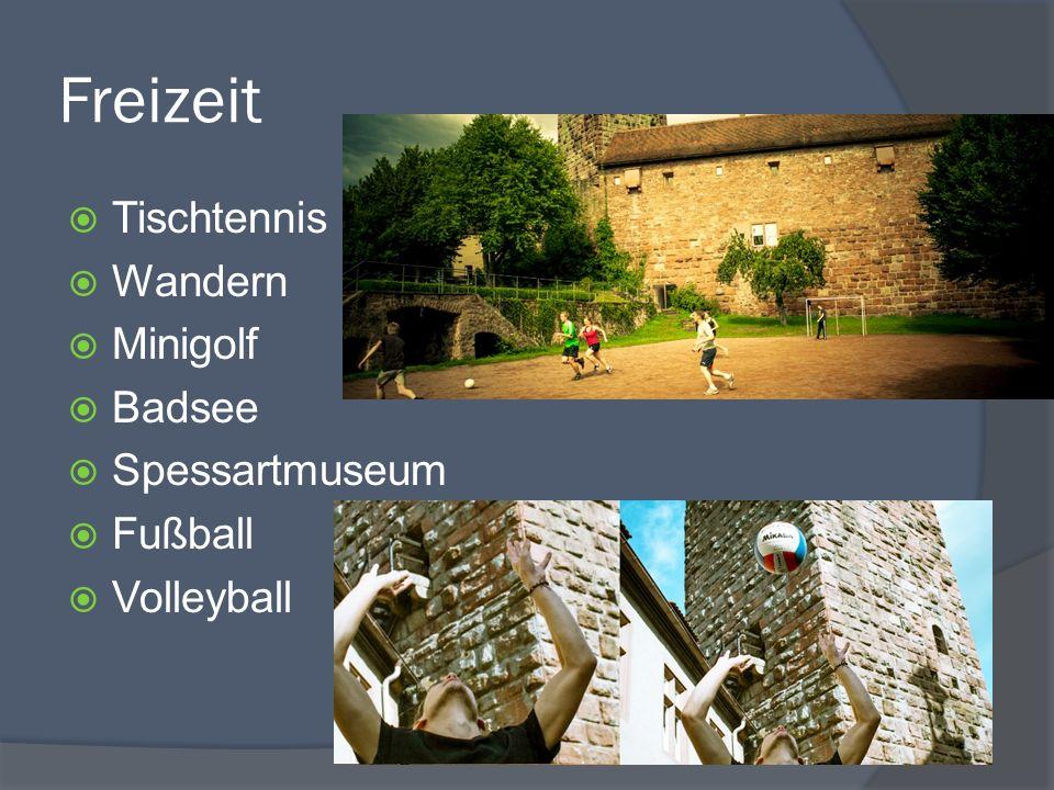 Freizeit Tischtennis Wandern Minigolf Badsee Spessartmuseum Fußball