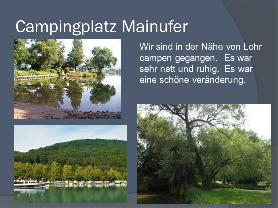 Campingplatz Mainufer