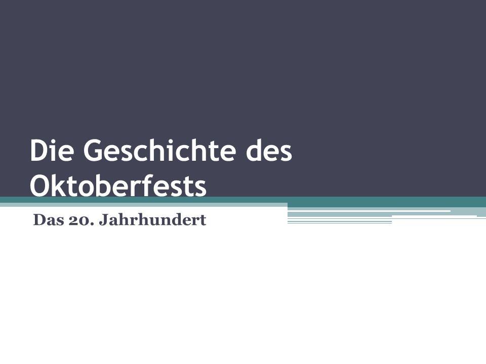 Die Geschichte des Oktoberfests