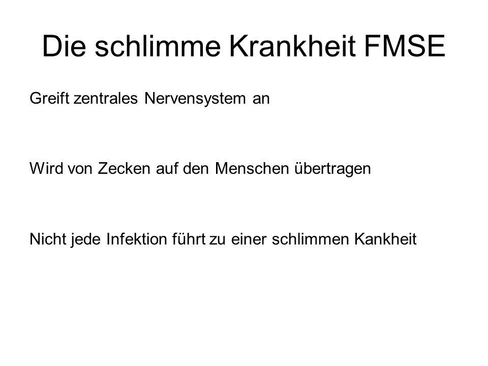 Die schlimme Krankheit FMSE
