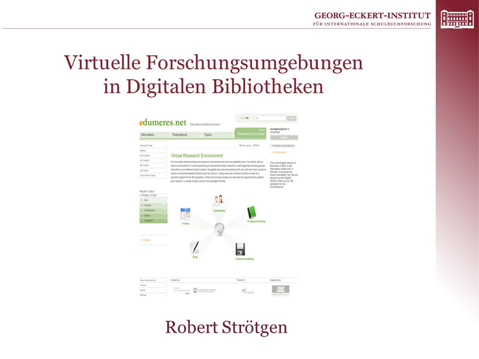 Virtuelle Forschungsumgebungen in Digitalen Bibliotheken