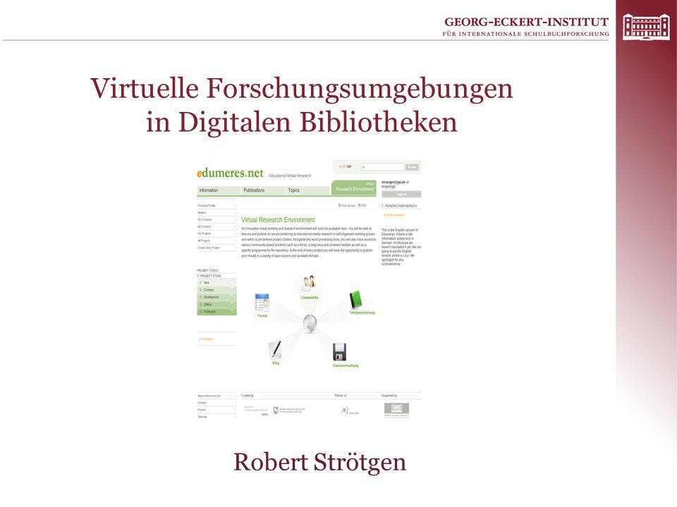Virtuelle Forschungsumgebungen in Digitalen Bibliotheken