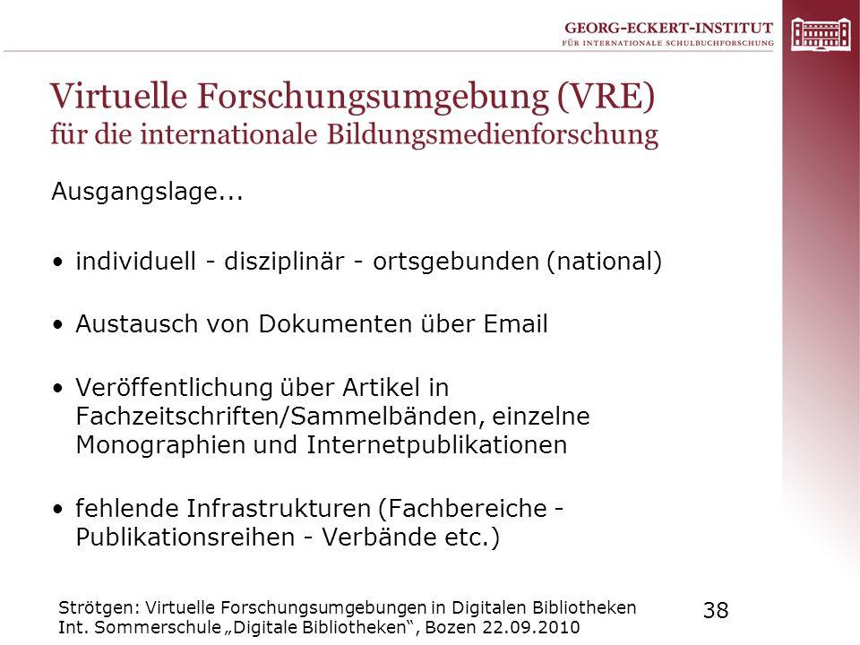 Virtuelle Forschungsumgebung (VRE) für die internationale Bildungsmedienforschung
