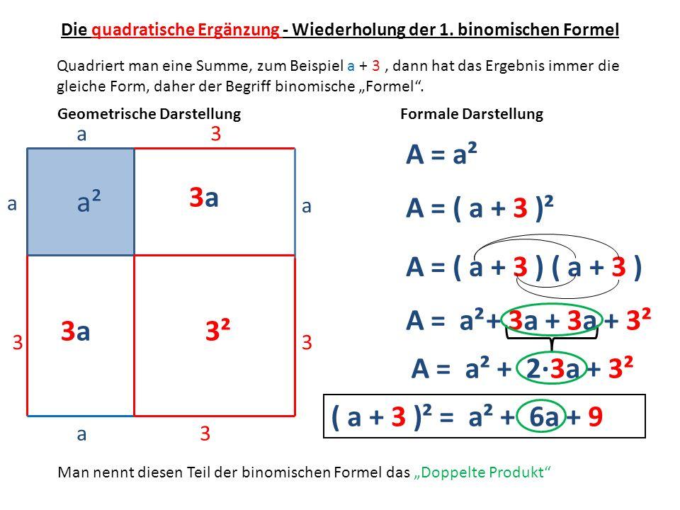 Die quadratische Ergänzung - Wiederholung der 1. binomischen Formel