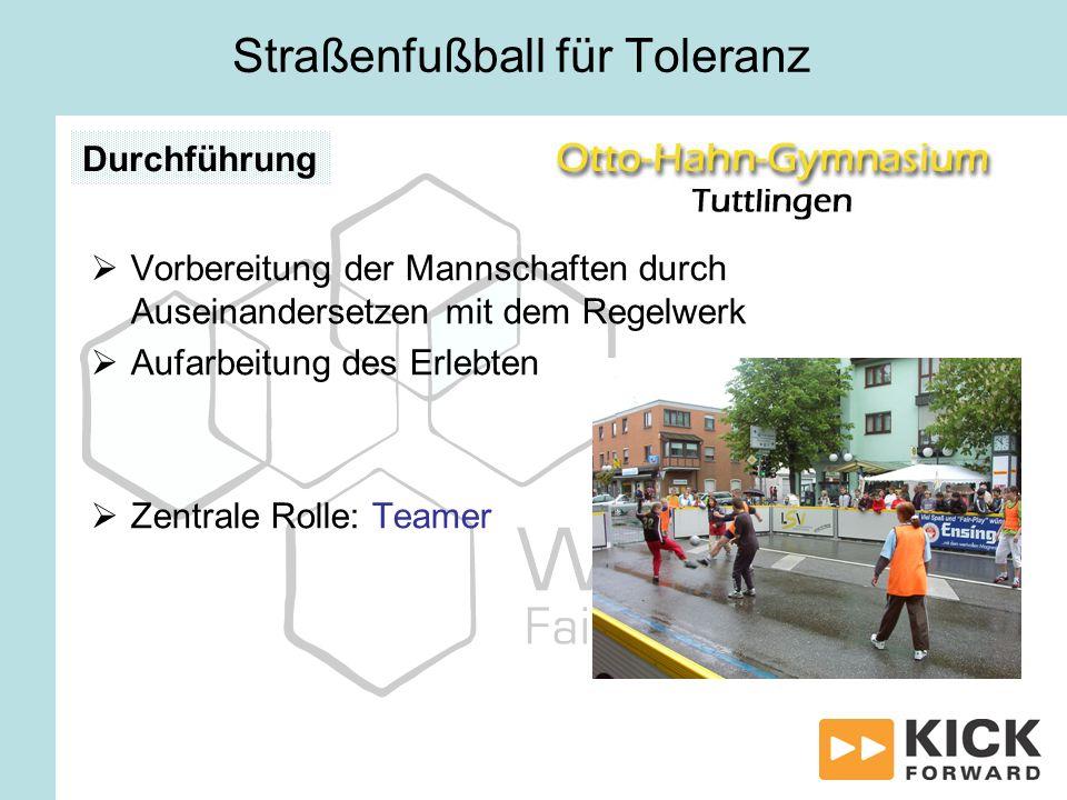 Straßenfußball für Toleranz