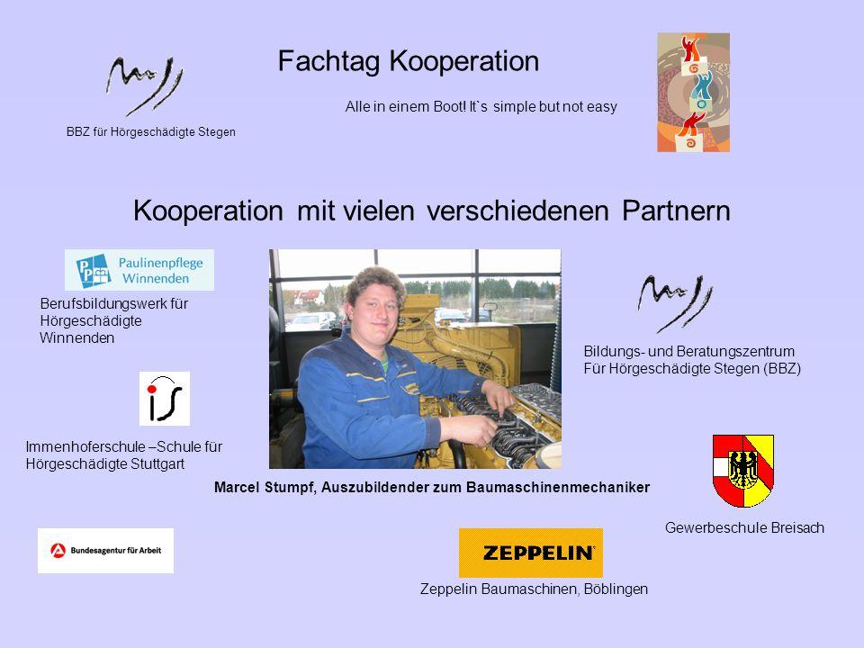 Marcel Stumpf, Auszubildender zum Baumaschinenmechaniker