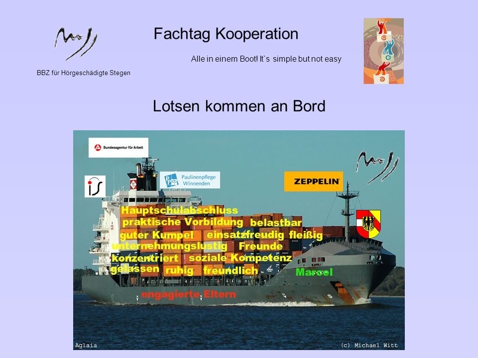 Fachtag Kooperation Lotsen kommen an Bord