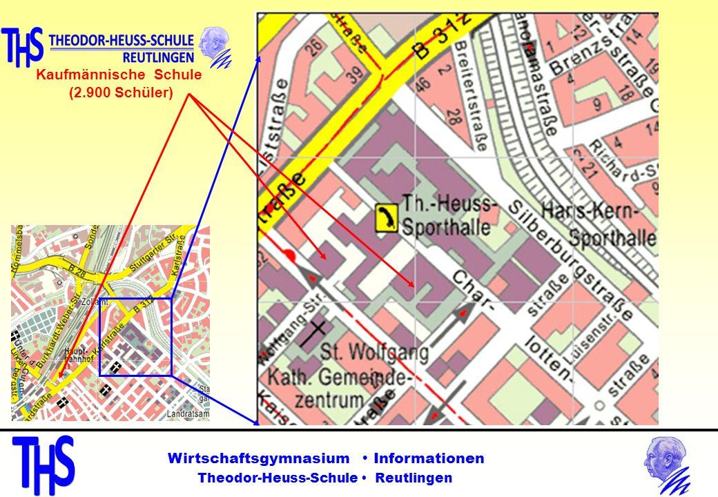 Kaufmännische Schule (2.900 Schüler) Wirtschaftsgymnasium  Informationen.
