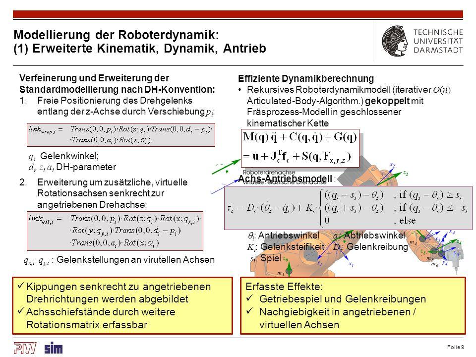 Modellierung der Roboterdynamik: (2) Dynamik und Anriebsmodellierung