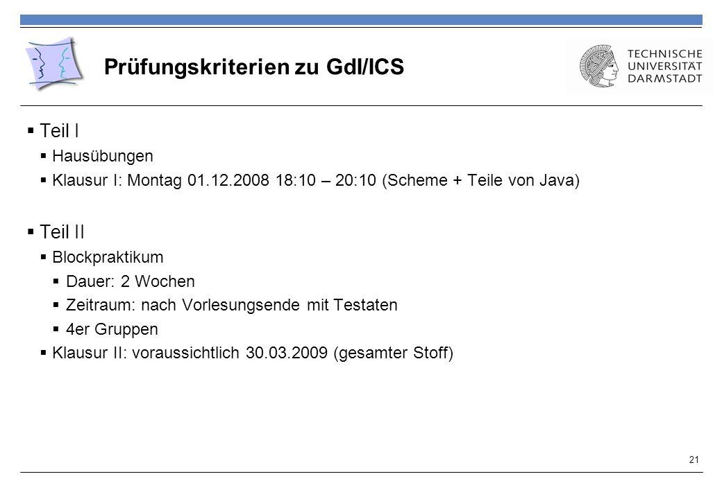 Prüfungskriterien zu GdI/ICS