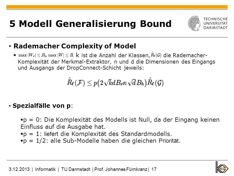 5 Modell Generalisierung Bound