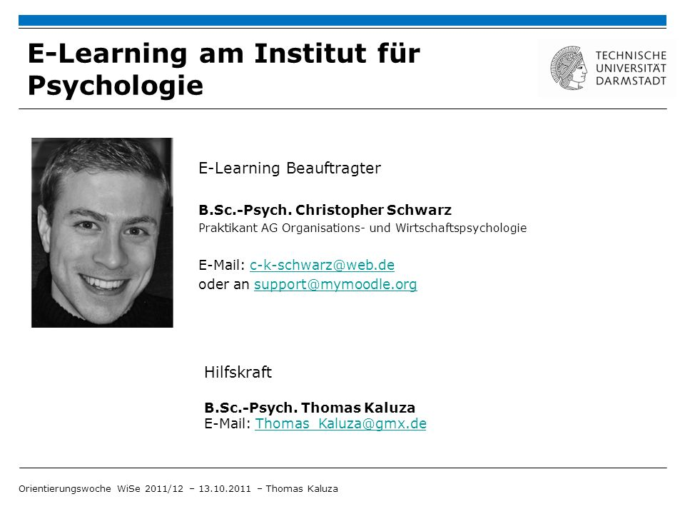 E-Learning am Institut für Psychologie