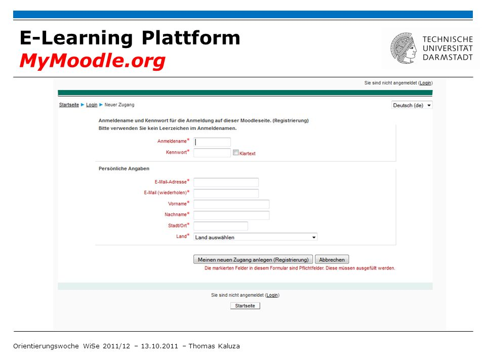 E-Learning Plattform MyMoodle.org