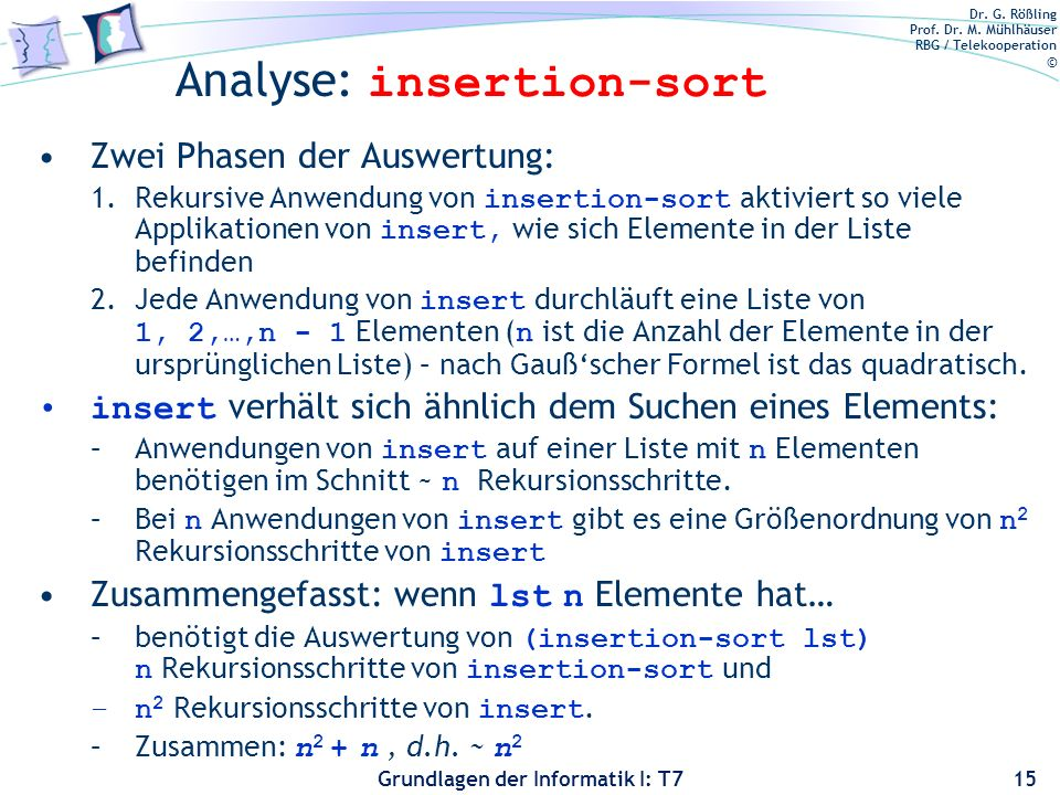 Analyse: insertion-sort