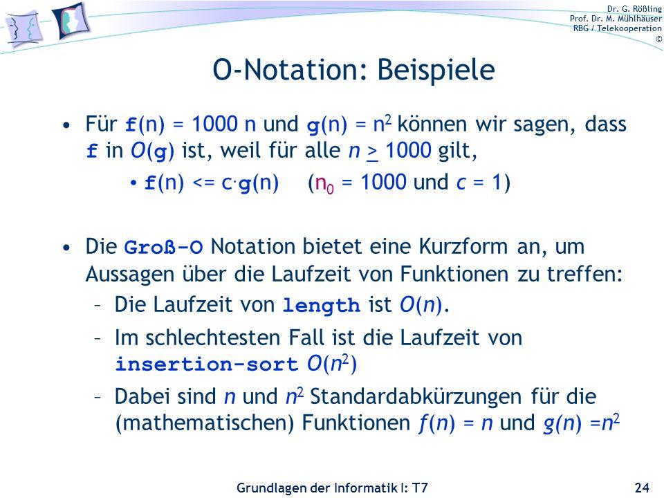O-Notation: Beispiele
