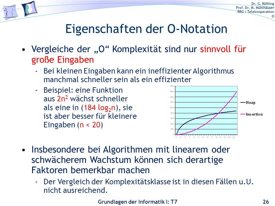 Eigenschaften der O-Notation