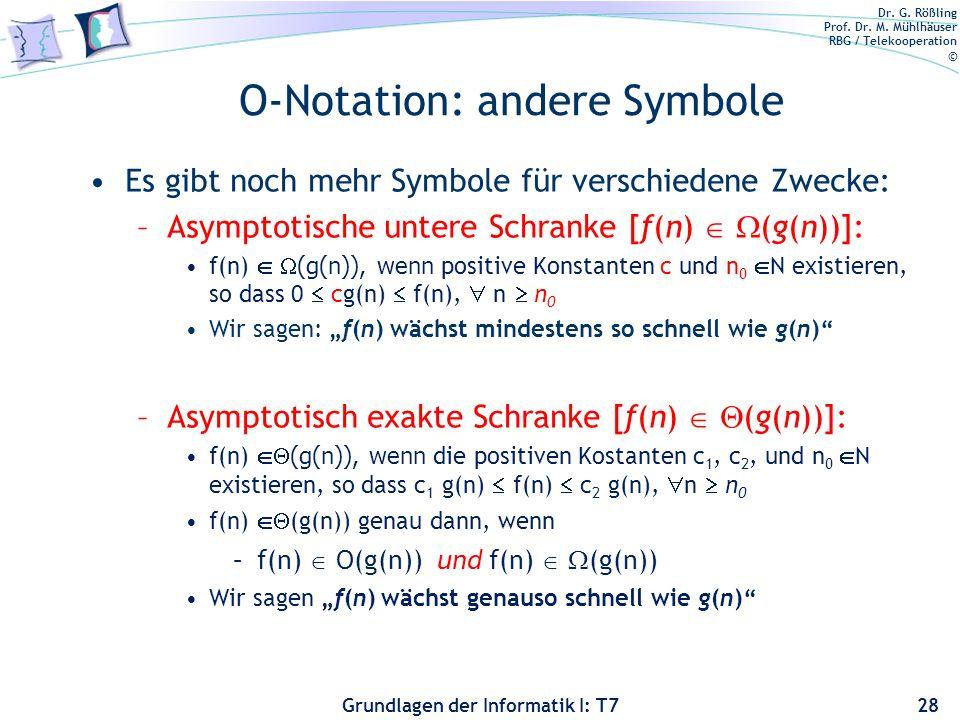 O-Notation: andere Symbole