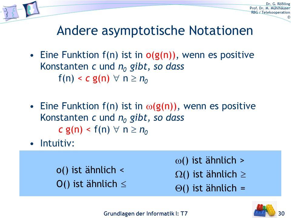 Andere asymptotische Notationen