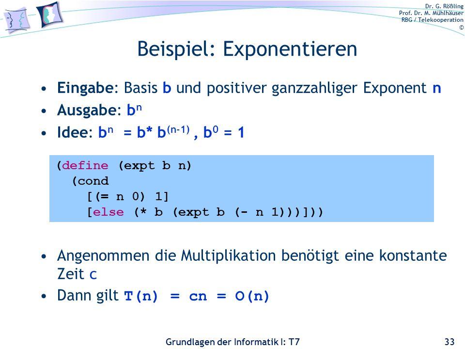 Beispiel: Exponentieren