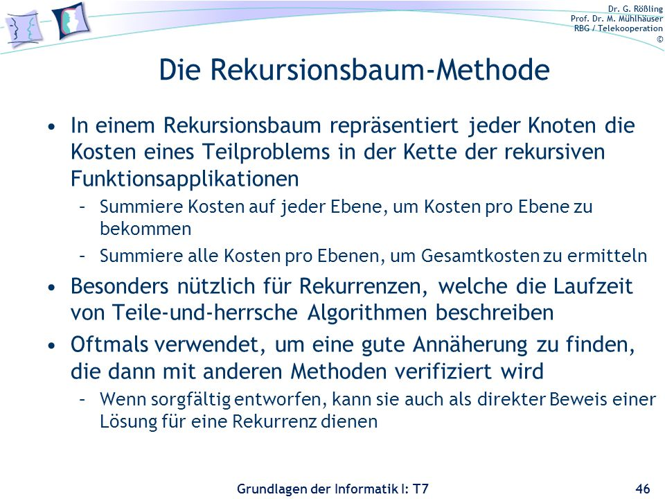 Die Rekursionsbaum-Methode