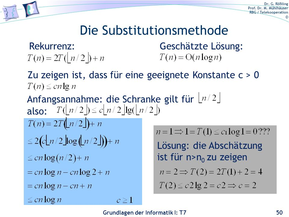Die Substitutionsmethode