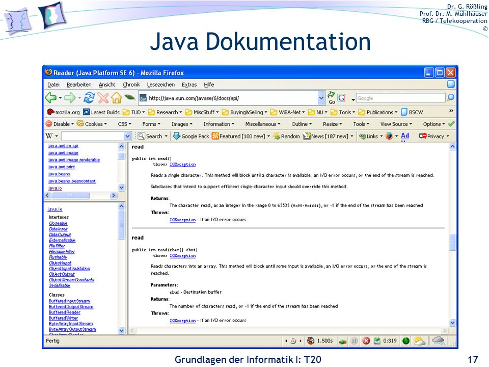 Java Dokumentation