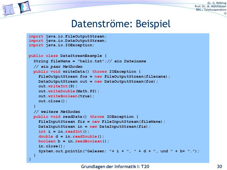 Datenströme: Beispiel