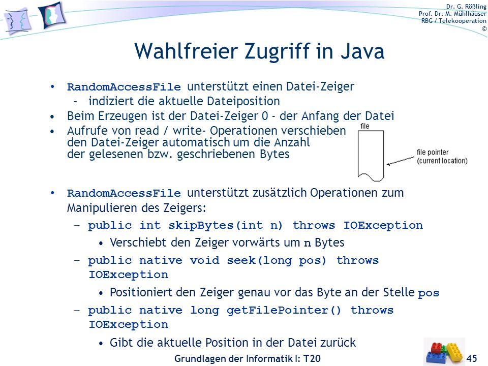 Wahlfreier Zugriff in Java