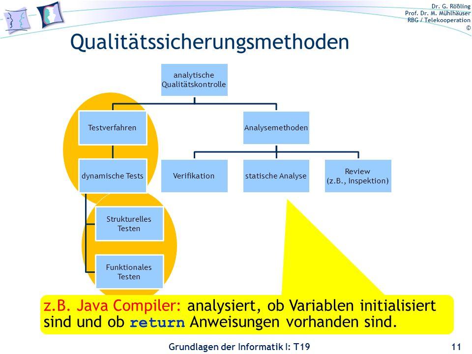 Qualitätssicherungsmethoden