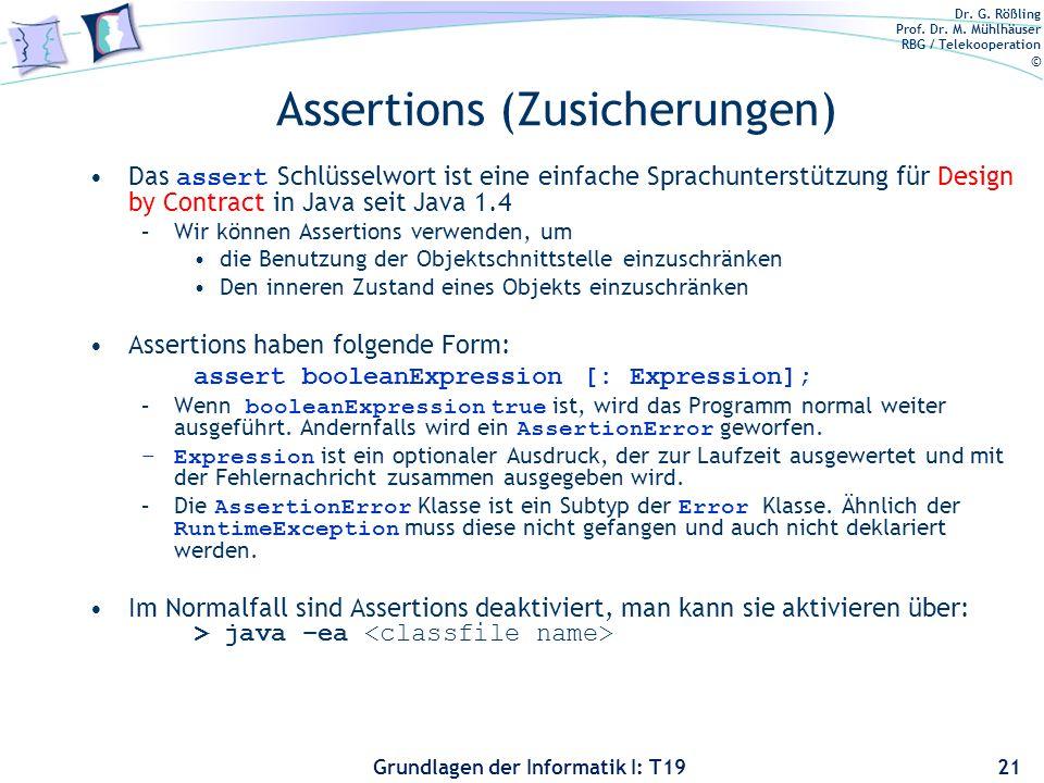 Assertions (Zusicherungen)